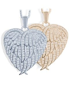 Wings of Love Cremation Ashes Memorial Pendant
