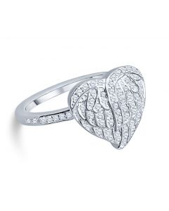 Wings of Love - Cremation Ashes Memorial Ring