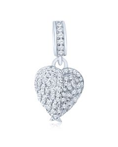 Wings of Love Pandora Style Bracelet Cremation Ashes Memorial Charm