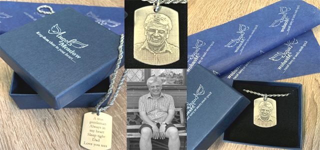 Professional Laser Engraved Memorial Jewellery. With and Without Ashes Compartment