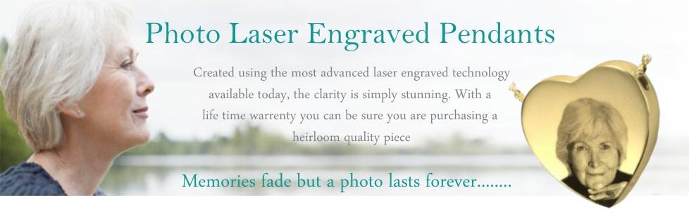 Photo Laser Engraved Ashes Pendant