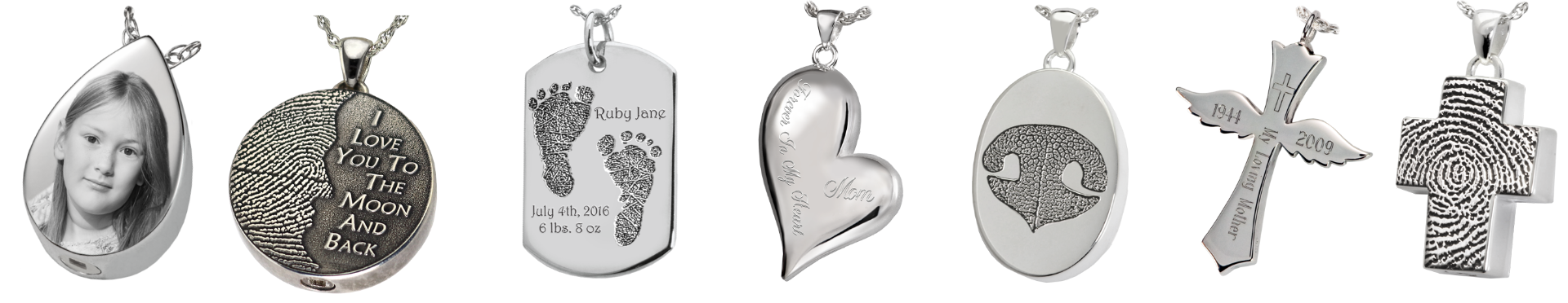 Engraved Pendants Examples