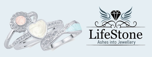LifeStone™ Ashes Rings - Ashes into jewellery. Jewellery made with your loved ones ashes.