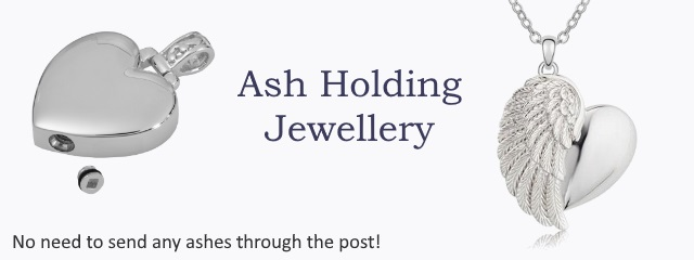 Sterling Silver Ashes Jewellery. Cremation Memorial Jewellery - no need to send your loved ones ashes through the post.